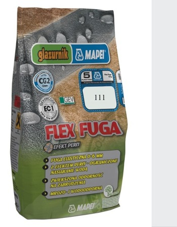 FUGA ELASTYCZNA MAPEI FLEX GLAZURNIK 111 5KG SREBRNY