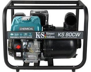 Pompa spalinowa do płynów agresywnych KONNER & SOHNEN KS 80CW + Olej + Darmowa DOSTAWA