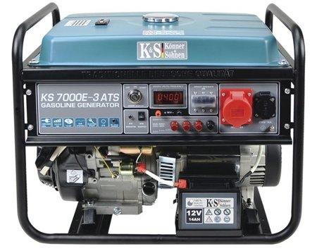 Agregat prądotwórczy KONNER & SOHNEN KS 7000E-3 ATS + Olej + Zestaw Transportowy