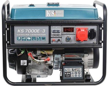 Agregat prądotwórczy KONNER & SOHNEN KS 7000E-3 + Olej + Darmowa DOSTAWA