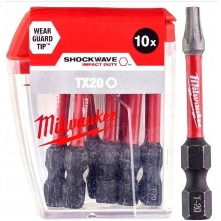 Bit udarowy MILWAUKEE SHOCKWAVE IMPACT DUTY TORX 50mm TX20 10szt